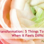 Transformation: 5 Things To Remember When it Feels Difficult